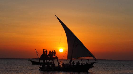 Dhow boat sunset cruise Zanzibar
