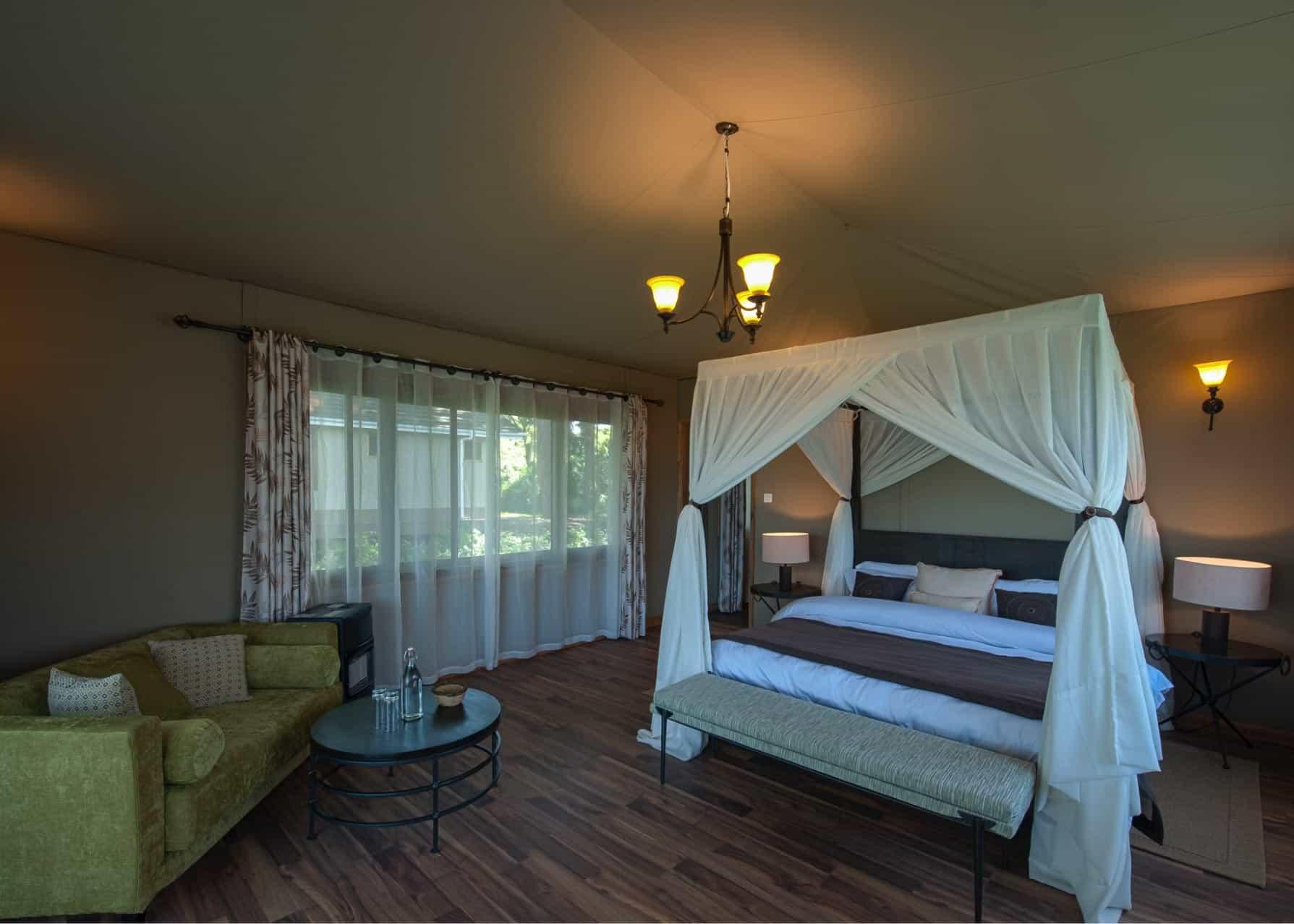 Lions Paw Camp room inside Ngorongoro conservation area, Tanzania